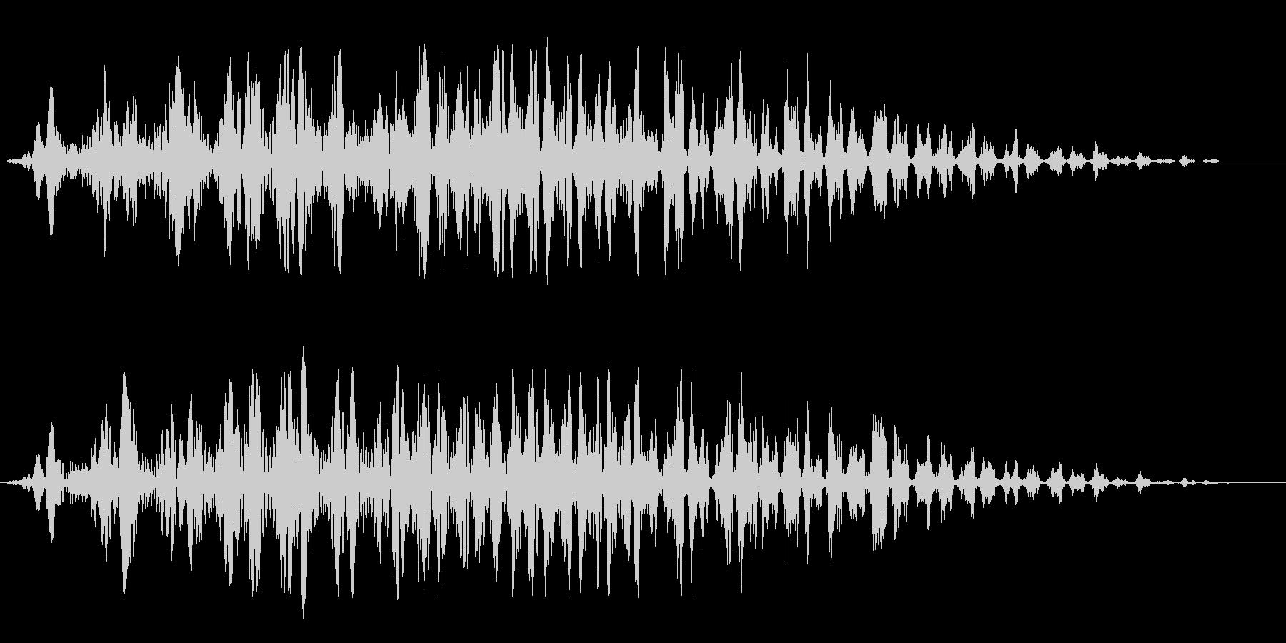 コミカル飛行音(アップ)の未再生の波形