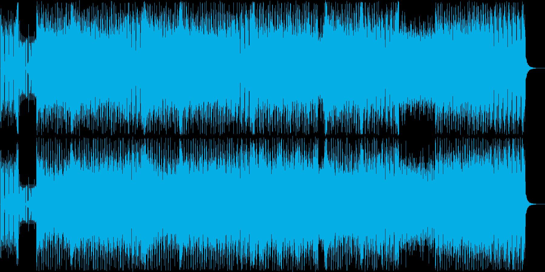 疾走感あるロックでテクノなリズムの再生済みの波形