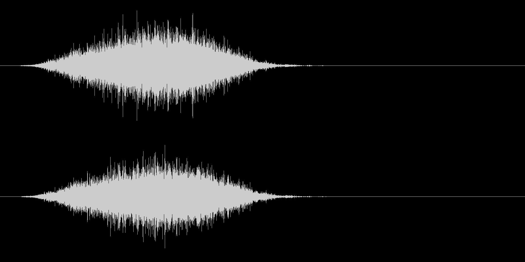 ザー…(波の音、海辺、砂浜)の未再生の波形