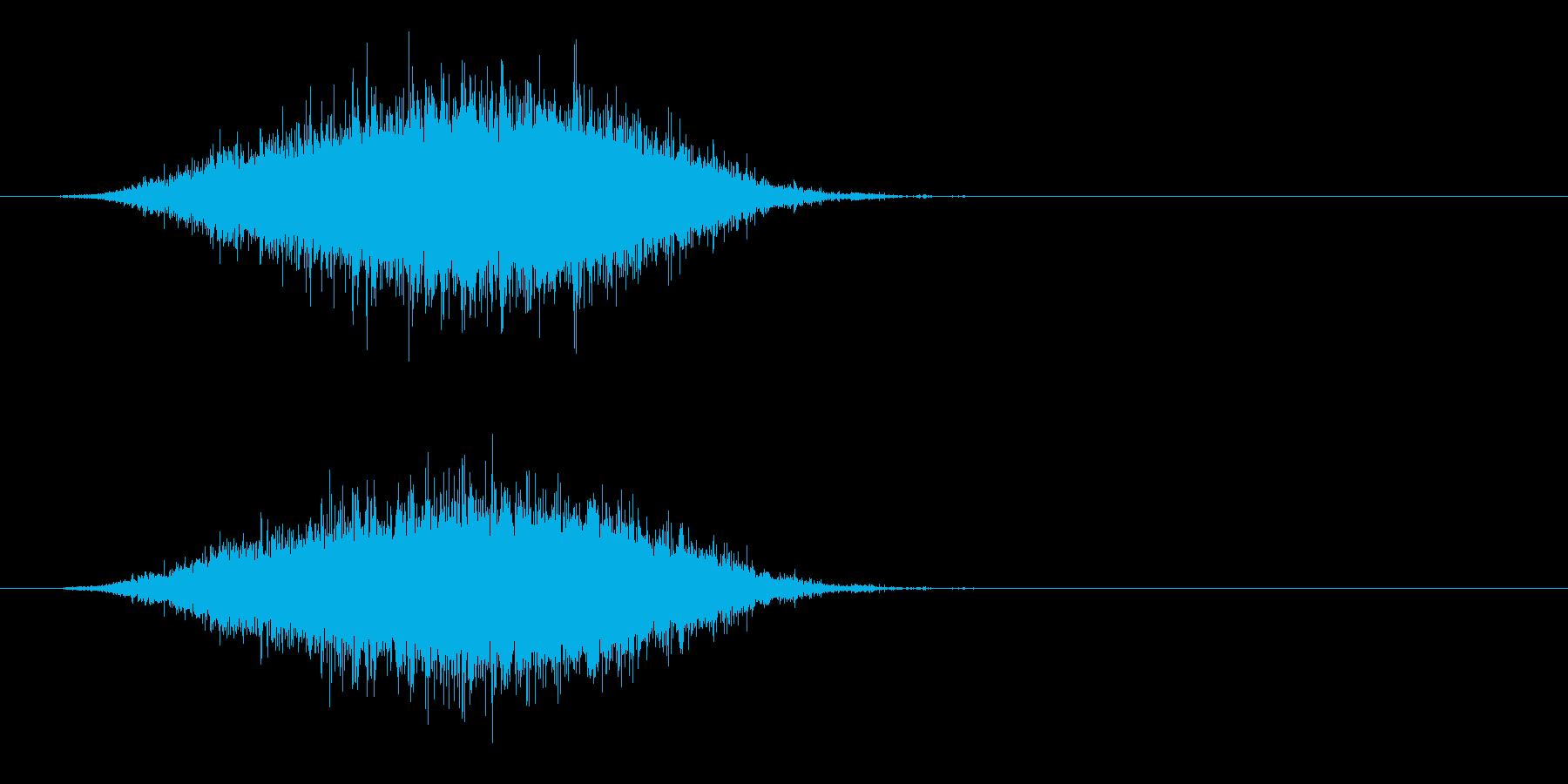 ザー…(波の音、海辺、砂浜)の再生済みの波形