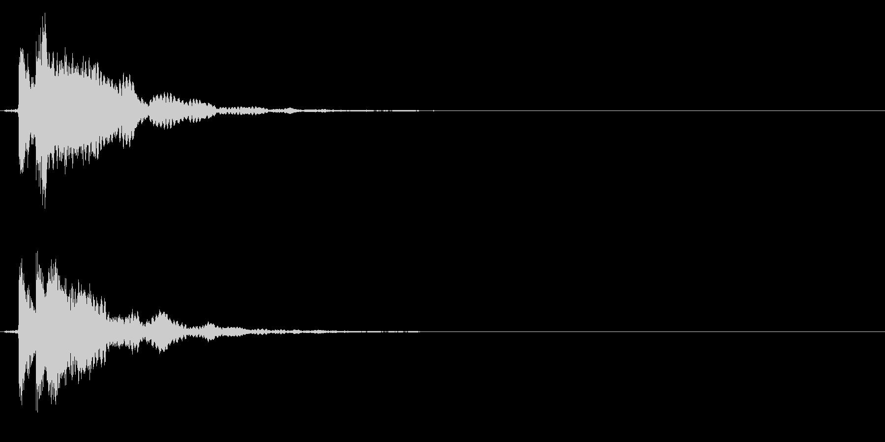 ゲームスタート、決定、ボタン音-022の未再生の波形
