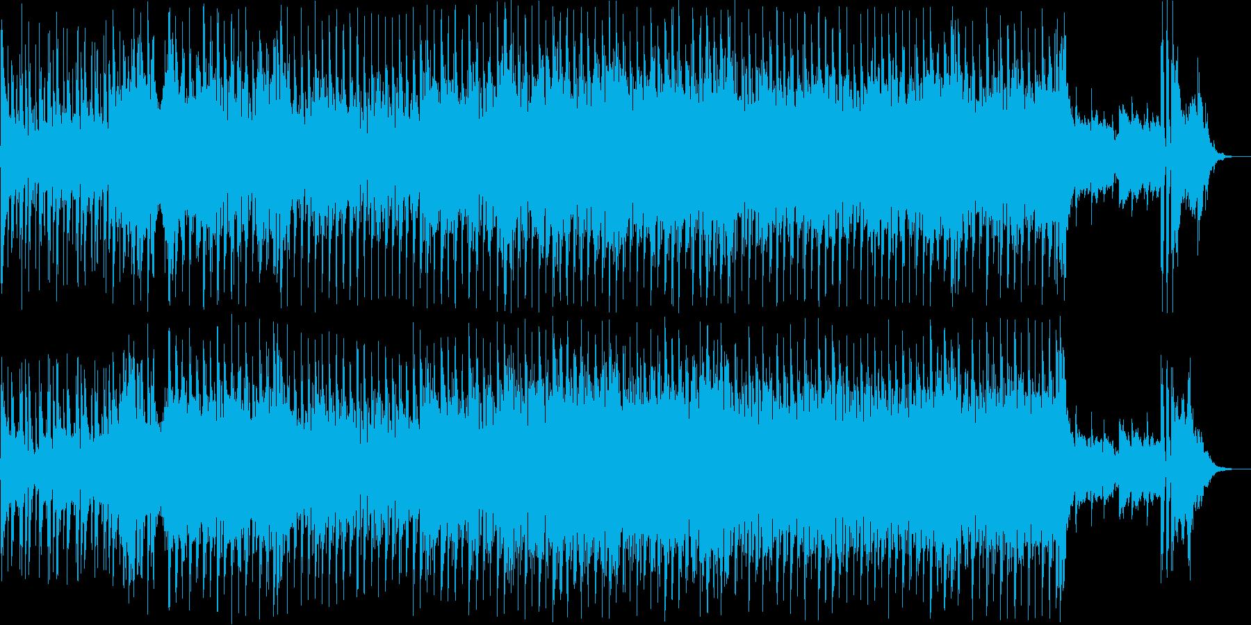 リラックスできる明るい落ち着いたジャズの再生済みの波形