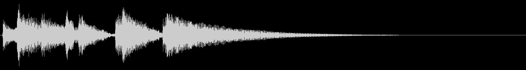 アコギ生音のジングル/爽やか6の未再生の波形