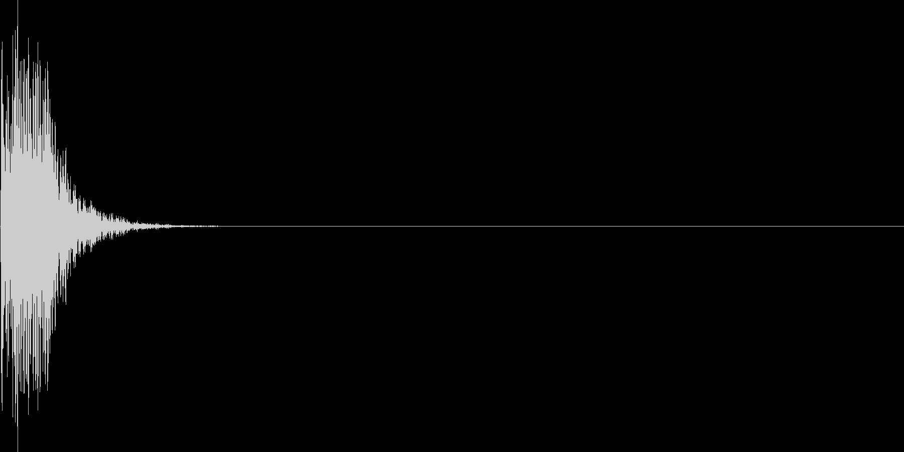 ゲーム・バラエティ的なパンチ音_02の未再生の波形