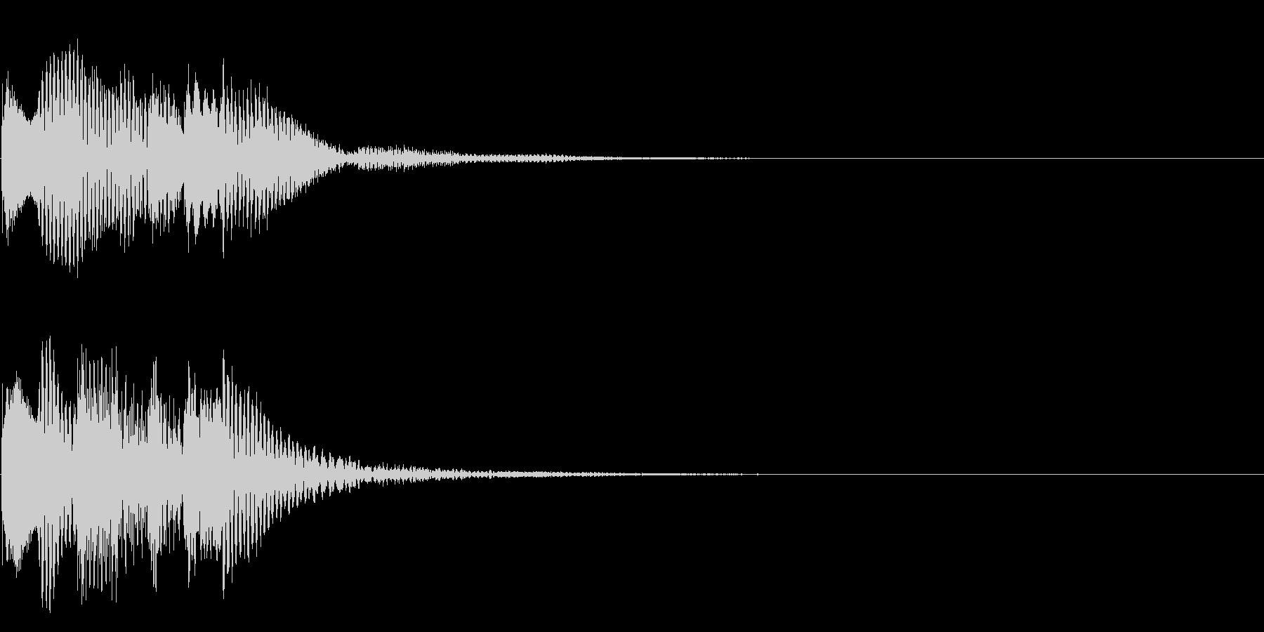 場面転換02(かわいい音)の未再生の波形