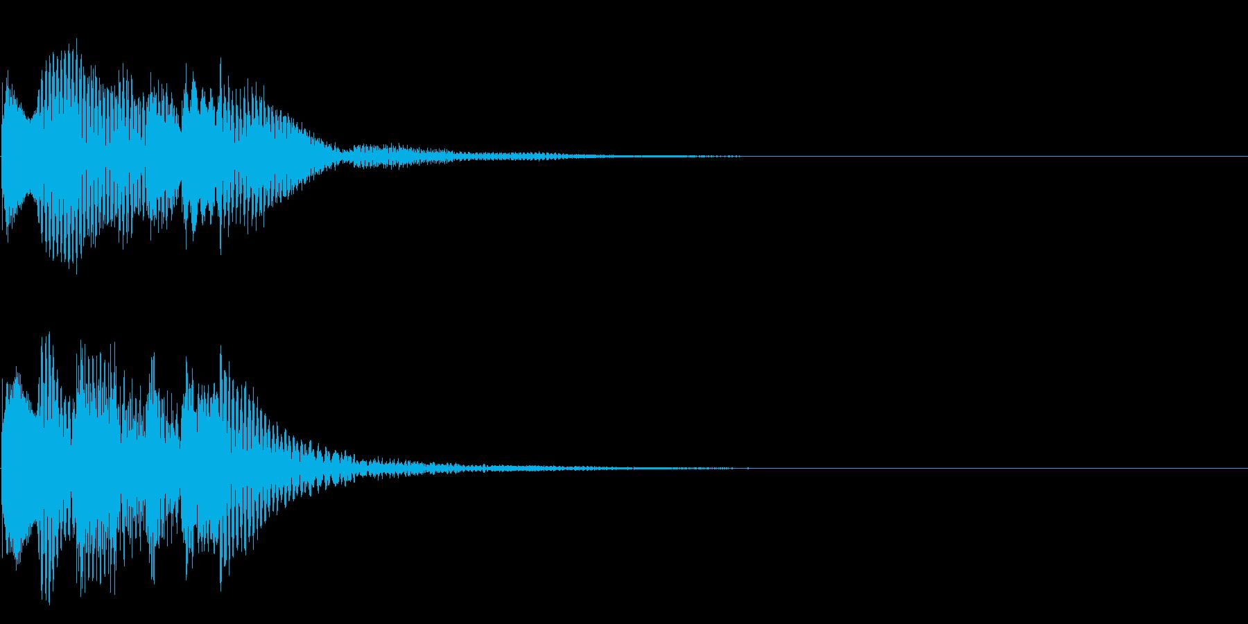 場面転換02(かわいい音)の再生済みの波形