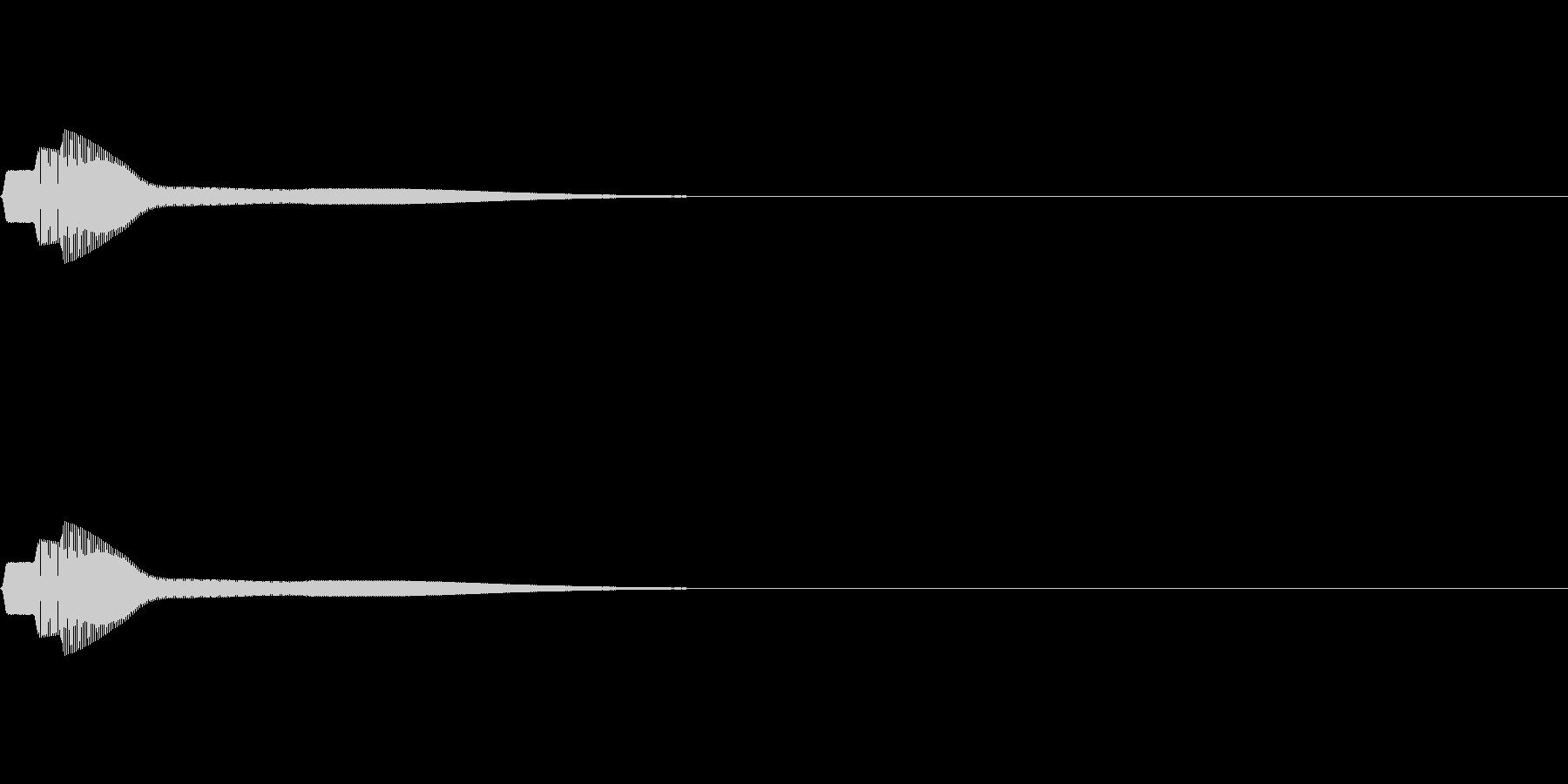 ピン (テロップ/クリックする音)の未再生の波形