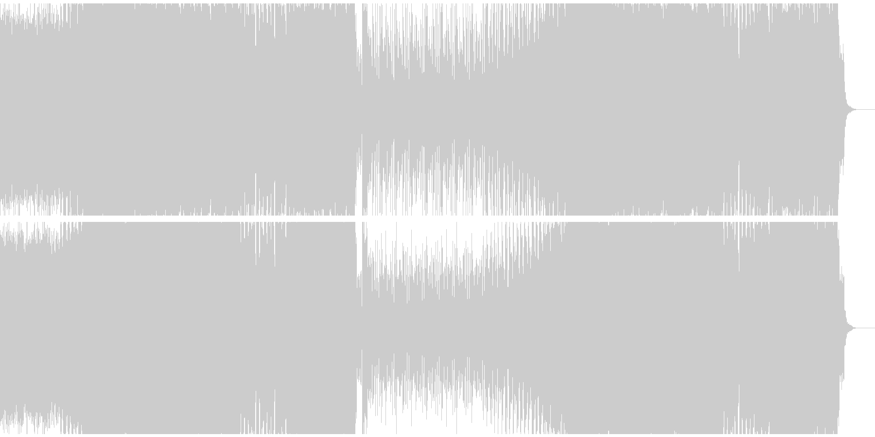 ラテンのハウス 4Beatの未再生の波形