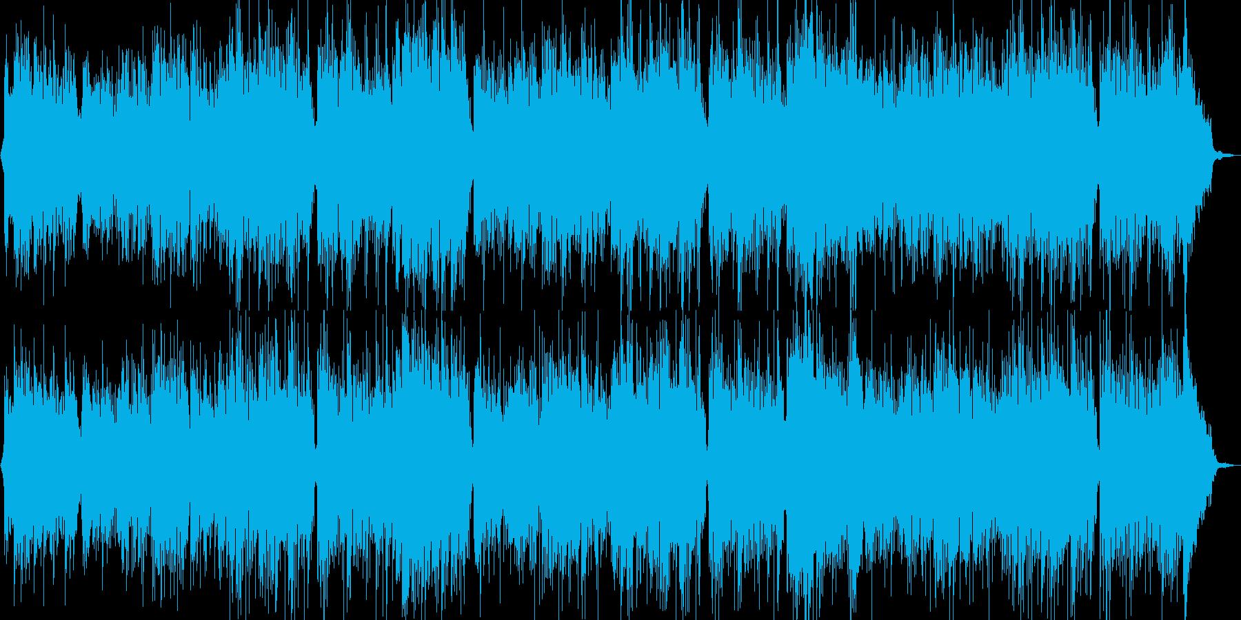 浜辺の歌のギターが印象的なカラオケの再生済みの波形