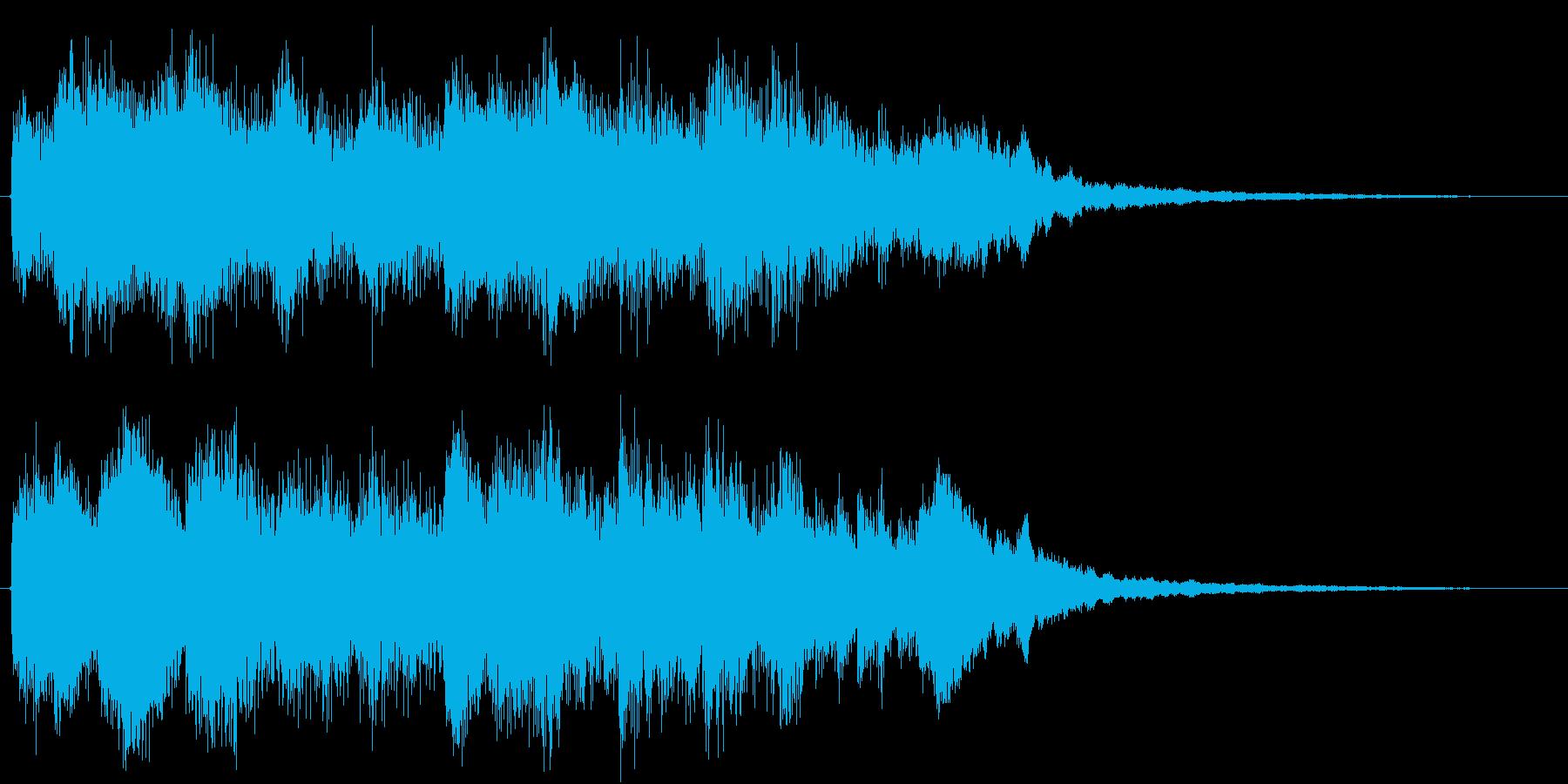 キラキラ・いい事が起きた感じのジングルの再生済みの波形