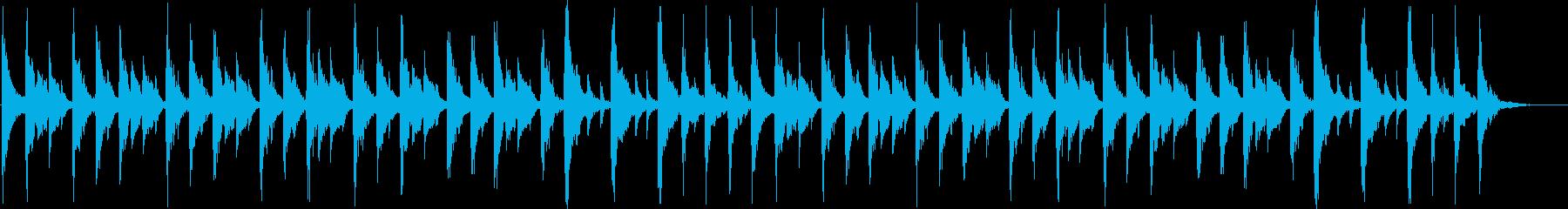 軽快なリズムのコミカルなジングル_ロングの再生済みの波形