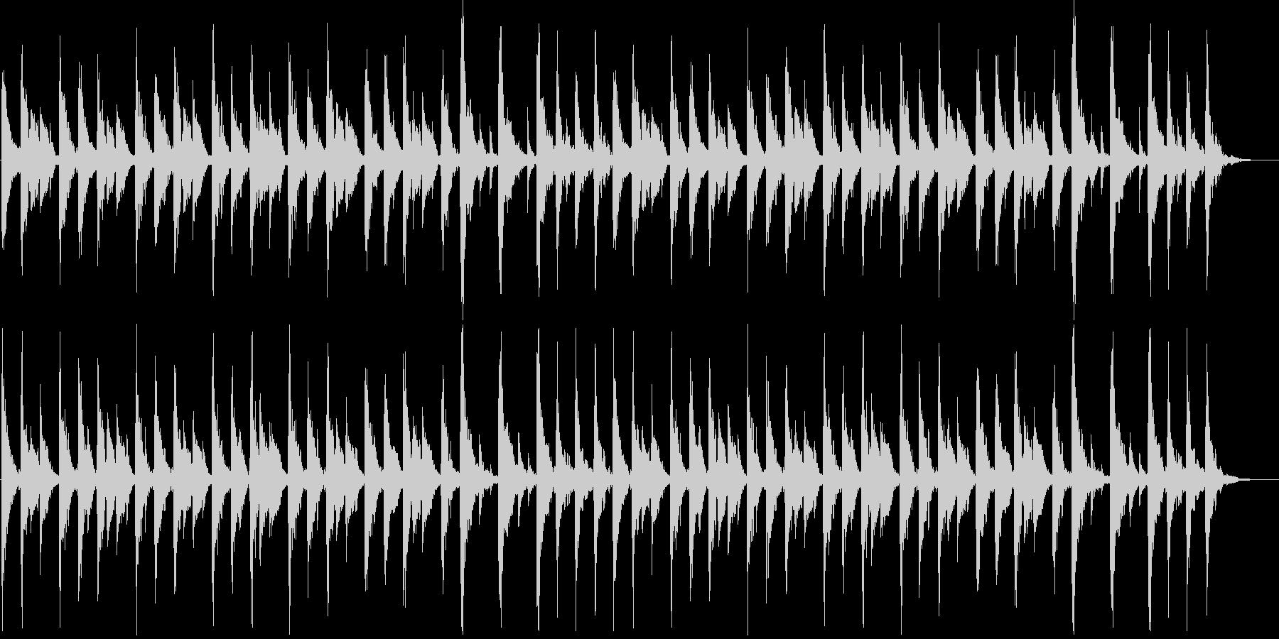 軽快なリズムのコミカルなジングル_ロングの未再生の波形
