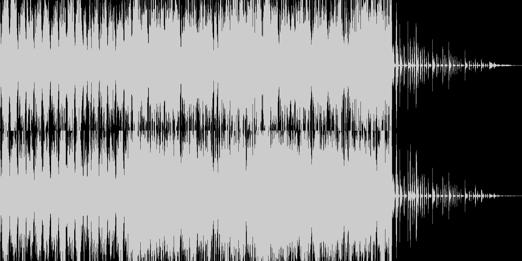 ノリの良い曲、ドラムが激しいジングルの未再生の波形