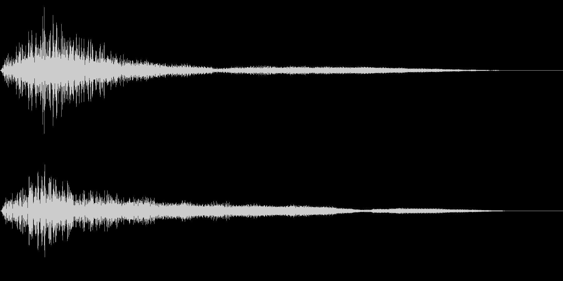 ホラー系アタック音53の未再生の波形