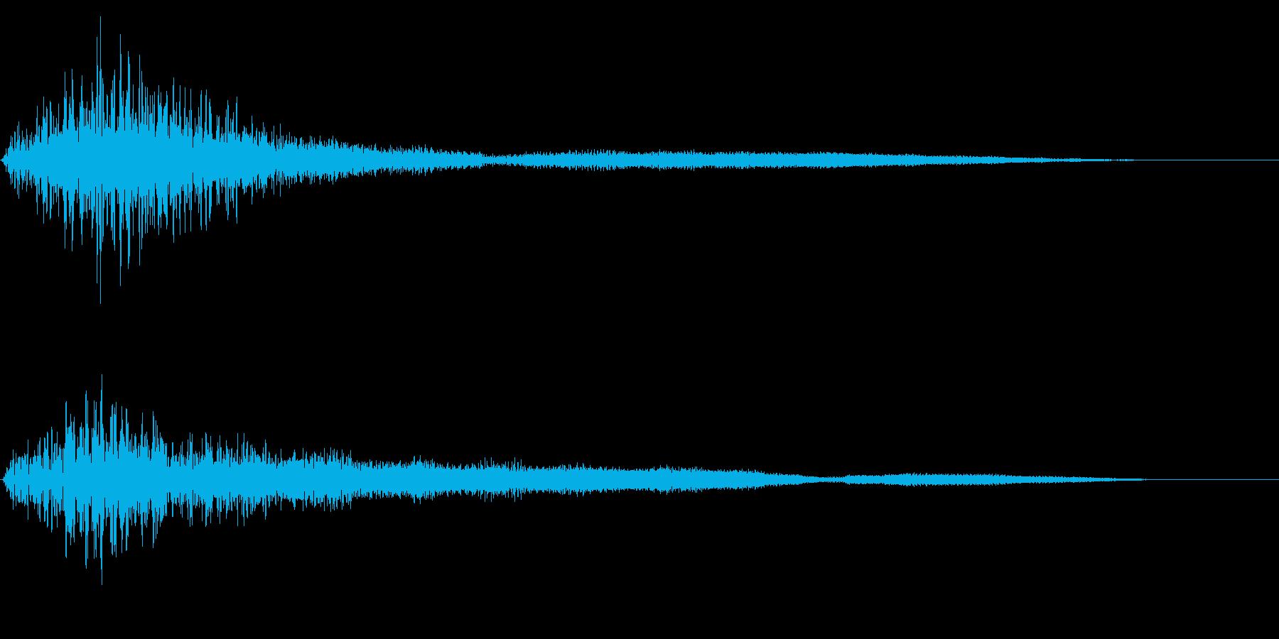 ホラー系アタック音53の再生済みの波形