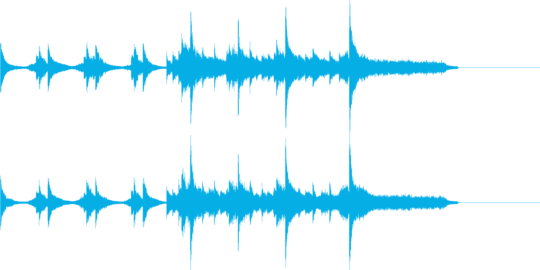 琴・ピアノを使った和風のアテンション1の再生済みの波形