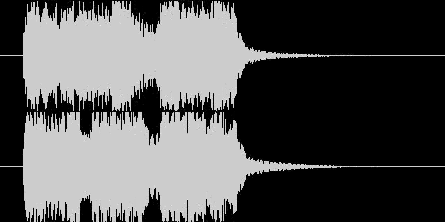 スピード感のあるファンファーレの未再生の波形