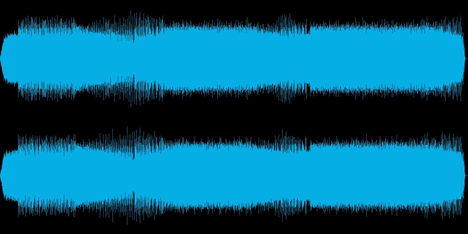 緊迫感のあるドラムンベースの再生済みの波形