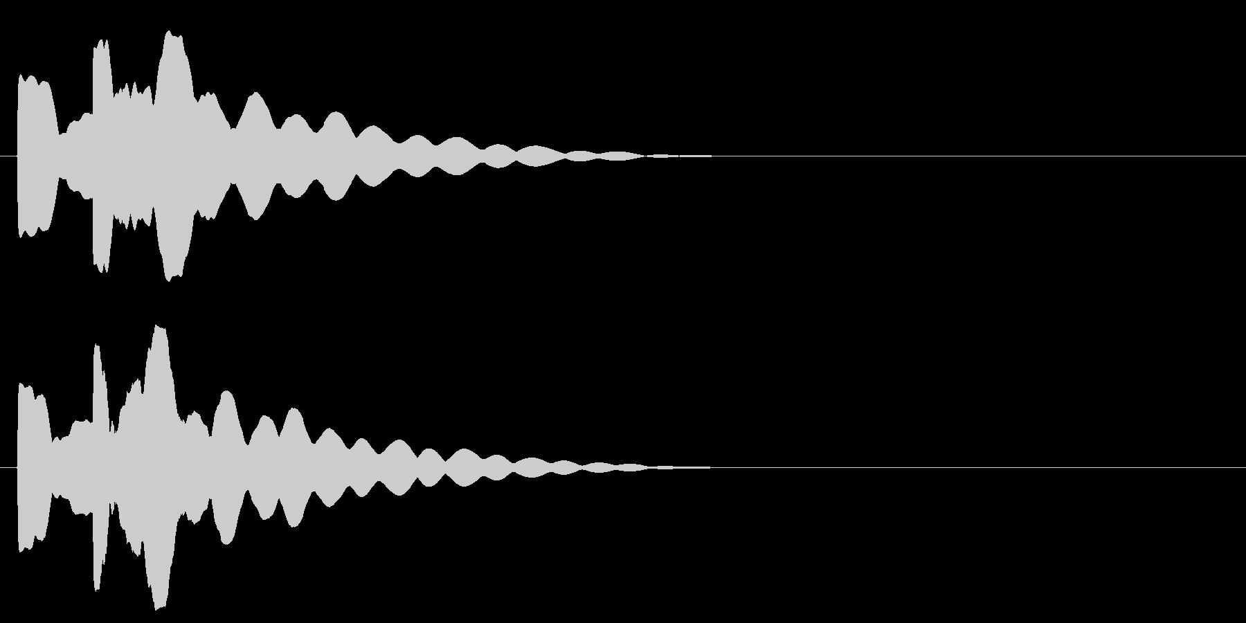 ピコン。明るめなベルの音です。の未再生の波形
