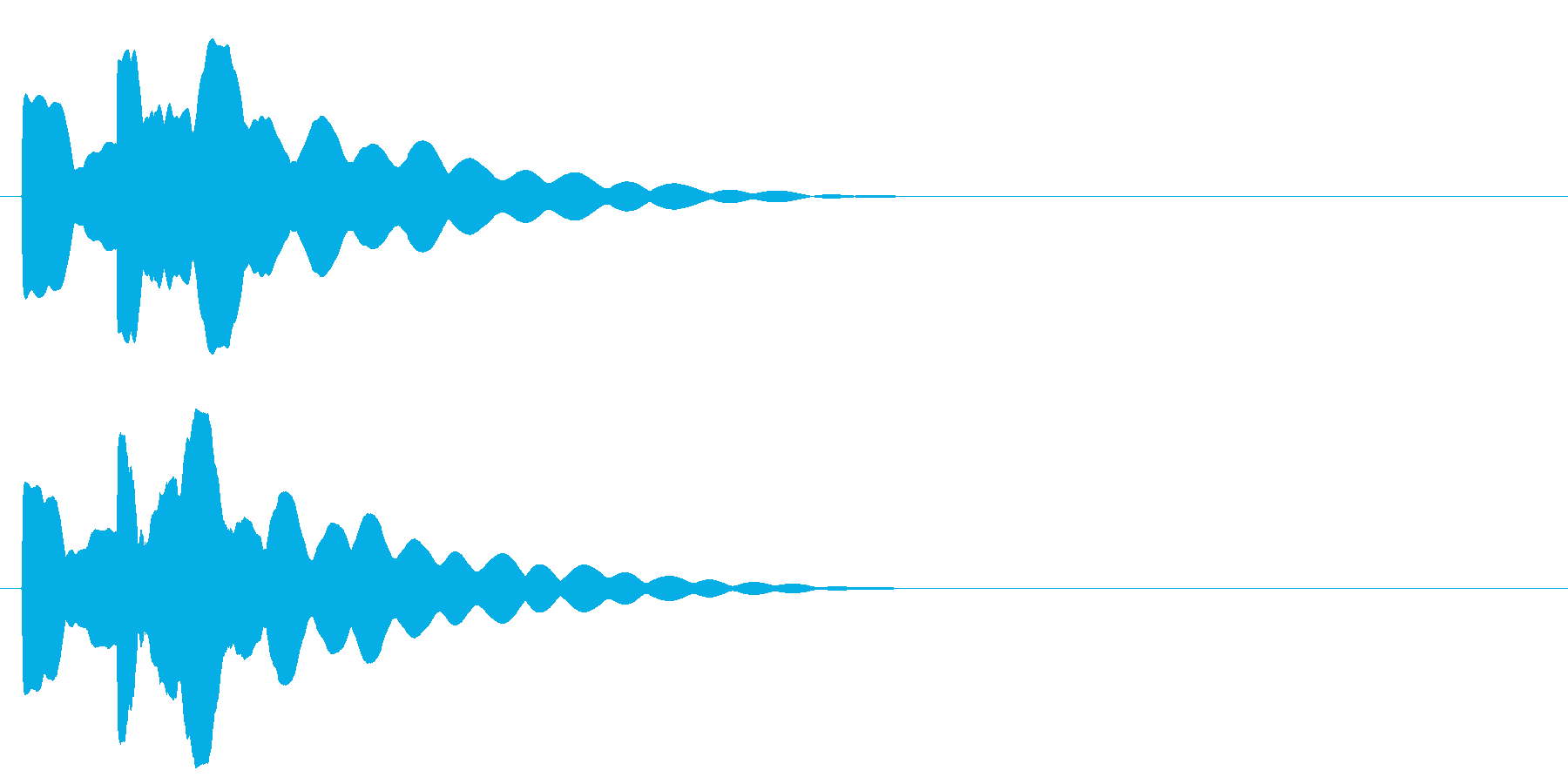 ピコン。明るめなベルの音です。の再生済みの波形