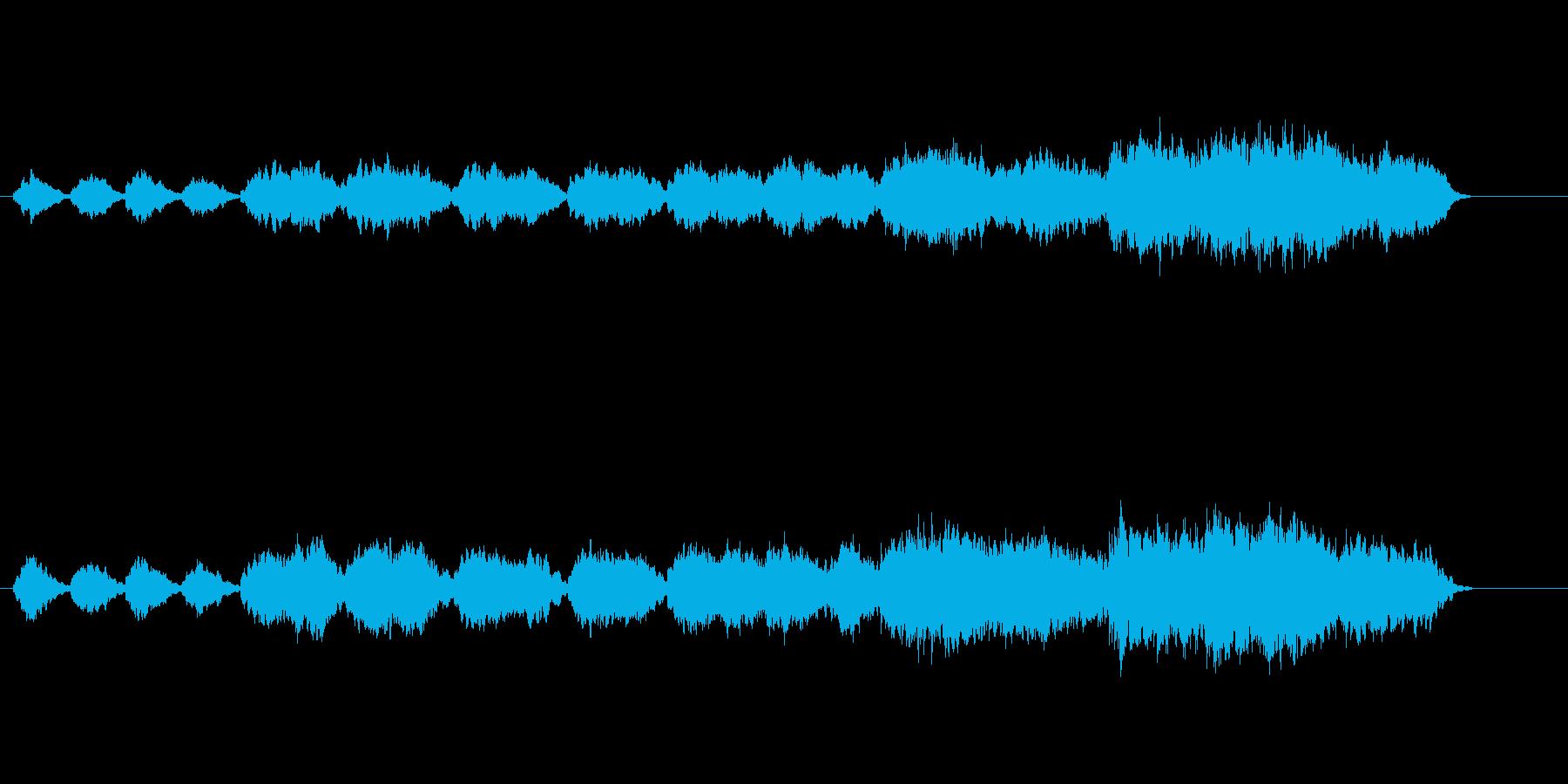 透明感のある環境音楽風の再生済みの波形