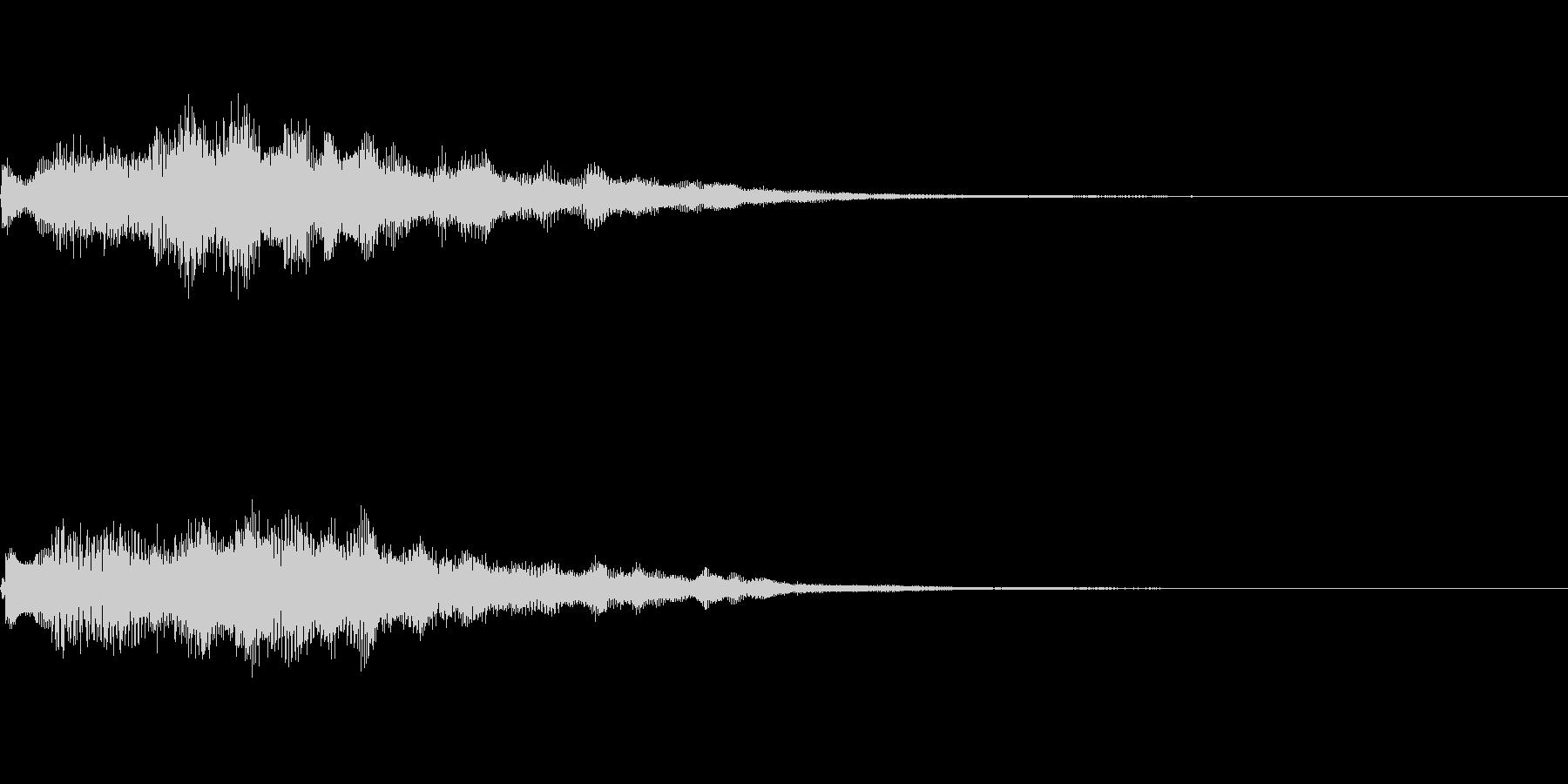 キラキラとしたジングルの未再生の波形
