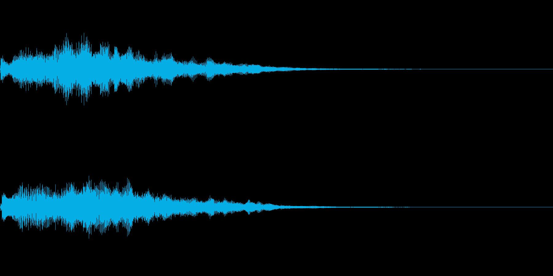 キラキラとしたジングルの再生済みの波形