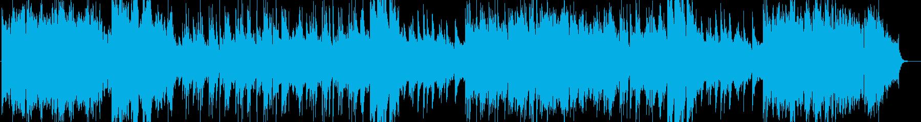 悠々と感動的なシンセ・ピアノなどの曲の再生済みの波形