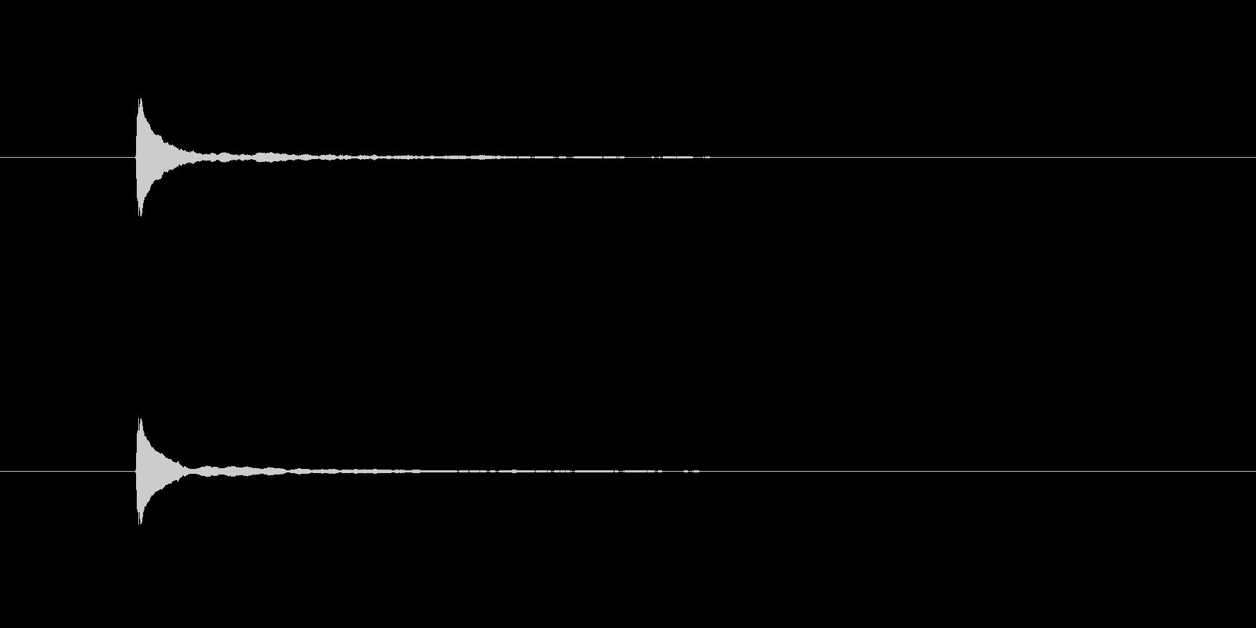 ポーン(衝撃、ピアノ、高音)の未再生の波形