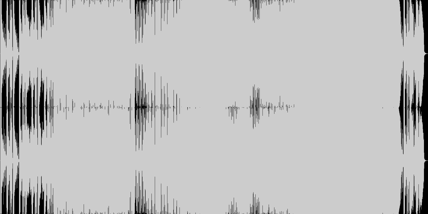 哀愁漂う生演奏曲。サビのコーラスが幻想的の未再生の波形