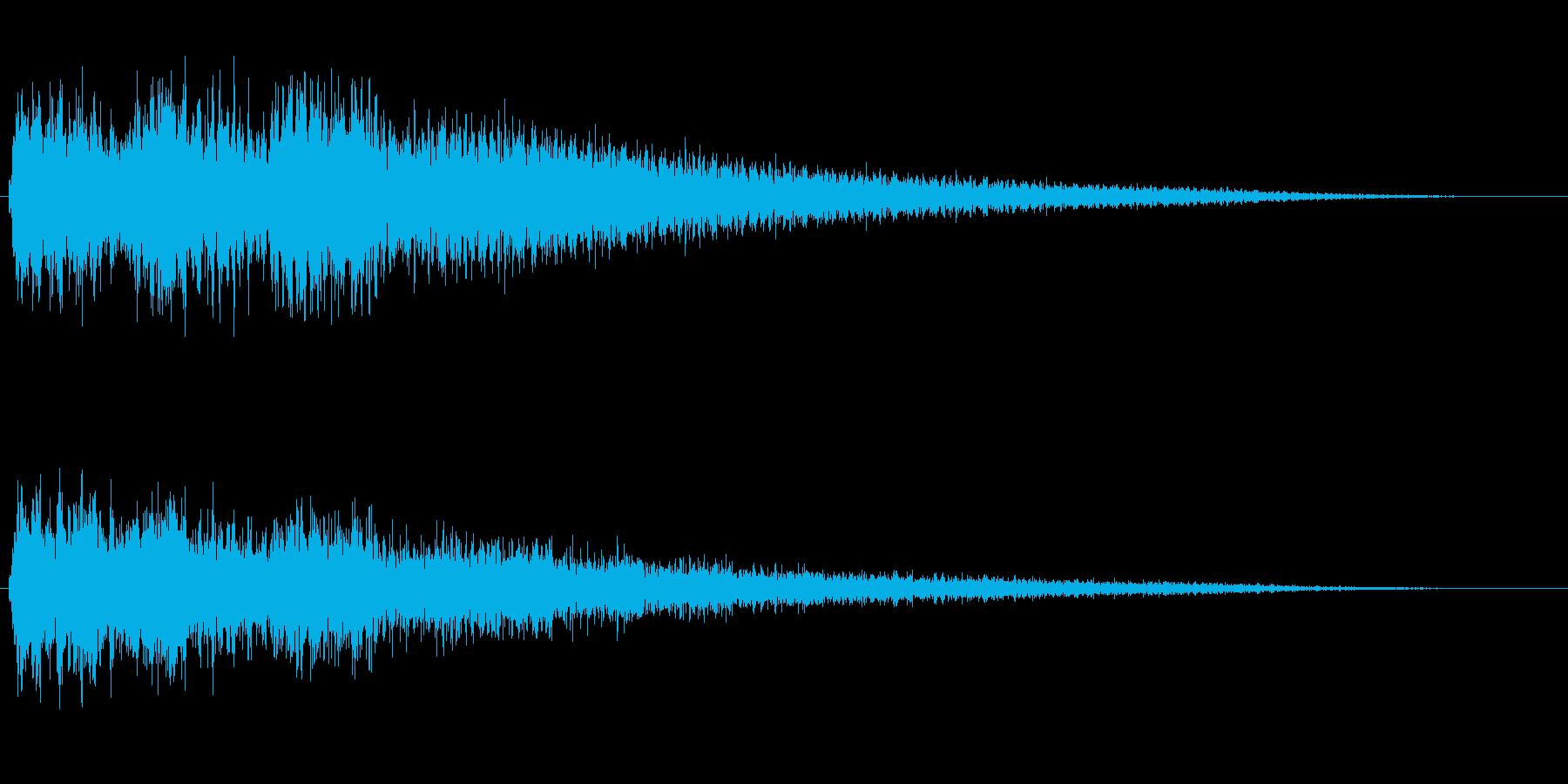 シュイーンという勢いがある音の再生済みの波形