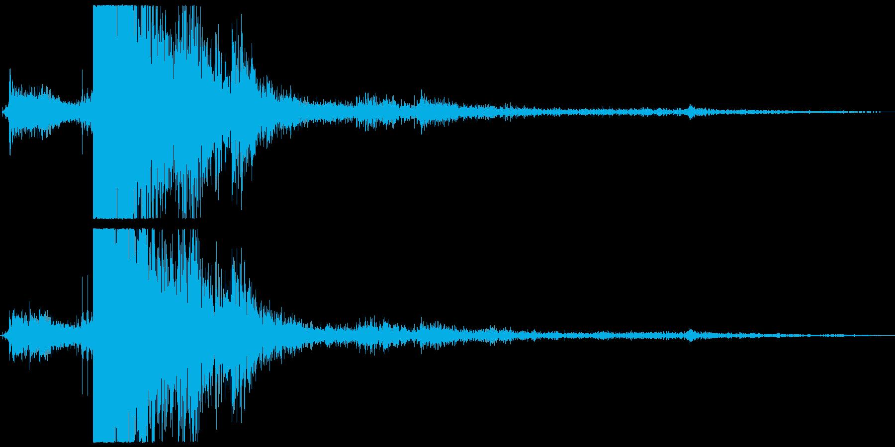 シュッドーーーーーン(雷・1発)の再生済みの波形