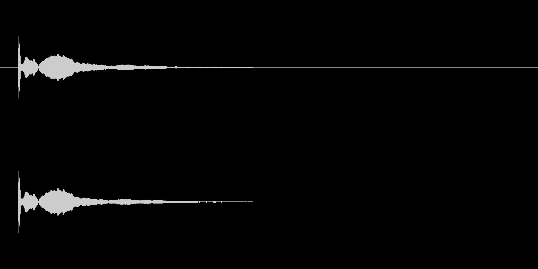 残響音も再現したポーンなソナー音1です。の未再生の波形
