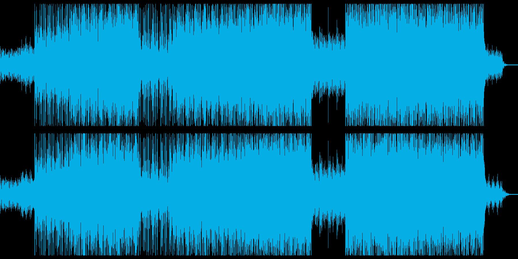 サイバー 重厚な機械イメージのロックの再生済みの波形