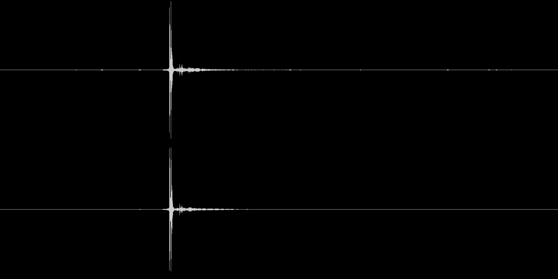 麻雀牌2の未再生の波形