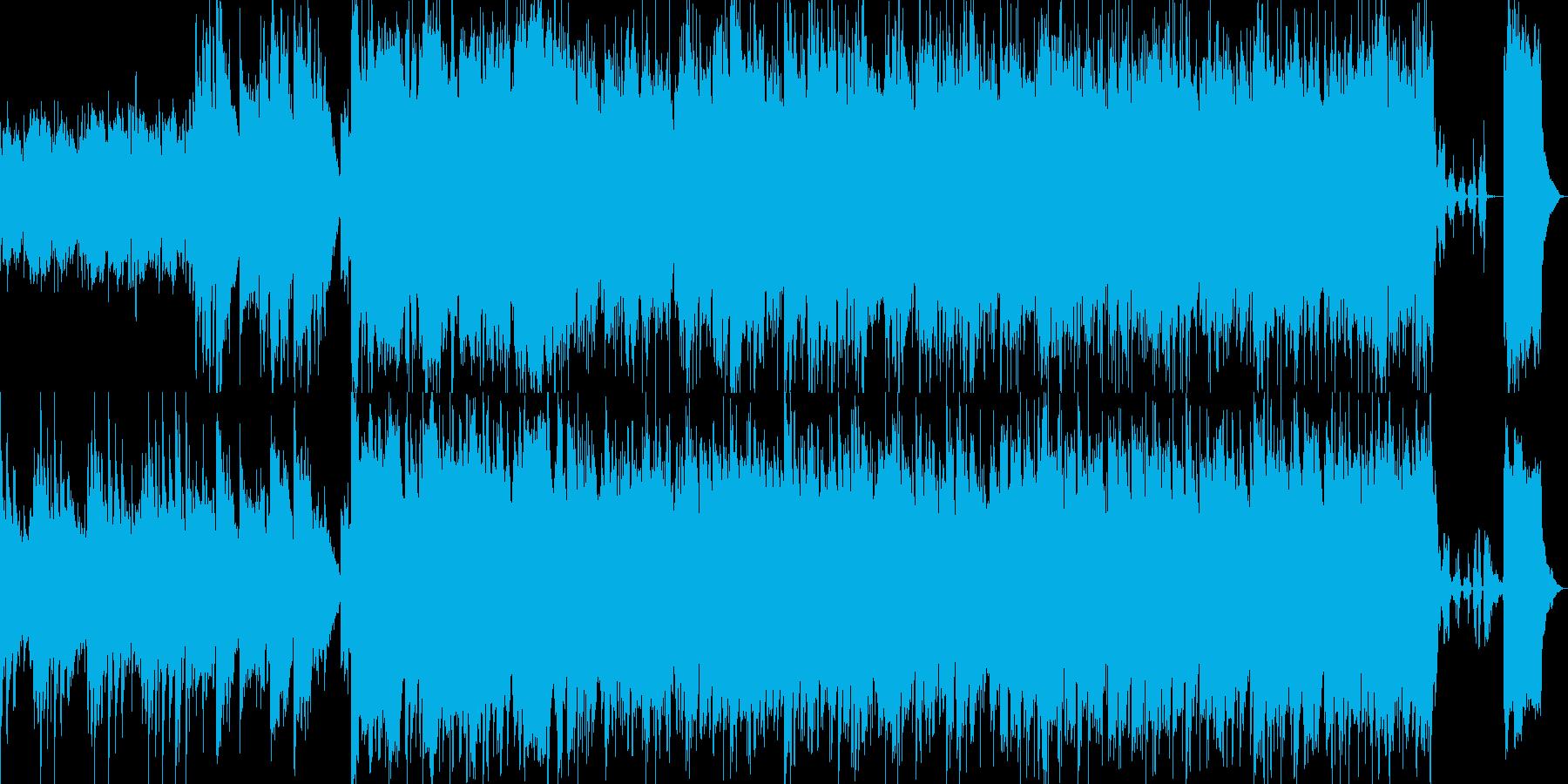 軽快なムード漂うBGMの再生済みの波形