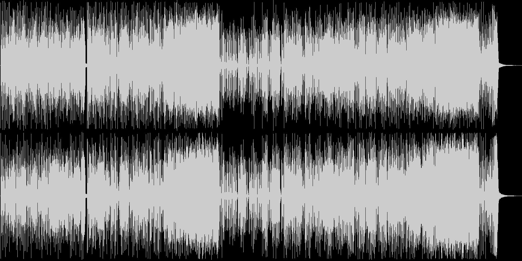 ハイテンポギターカッティング、FUNK調の未再生の波形