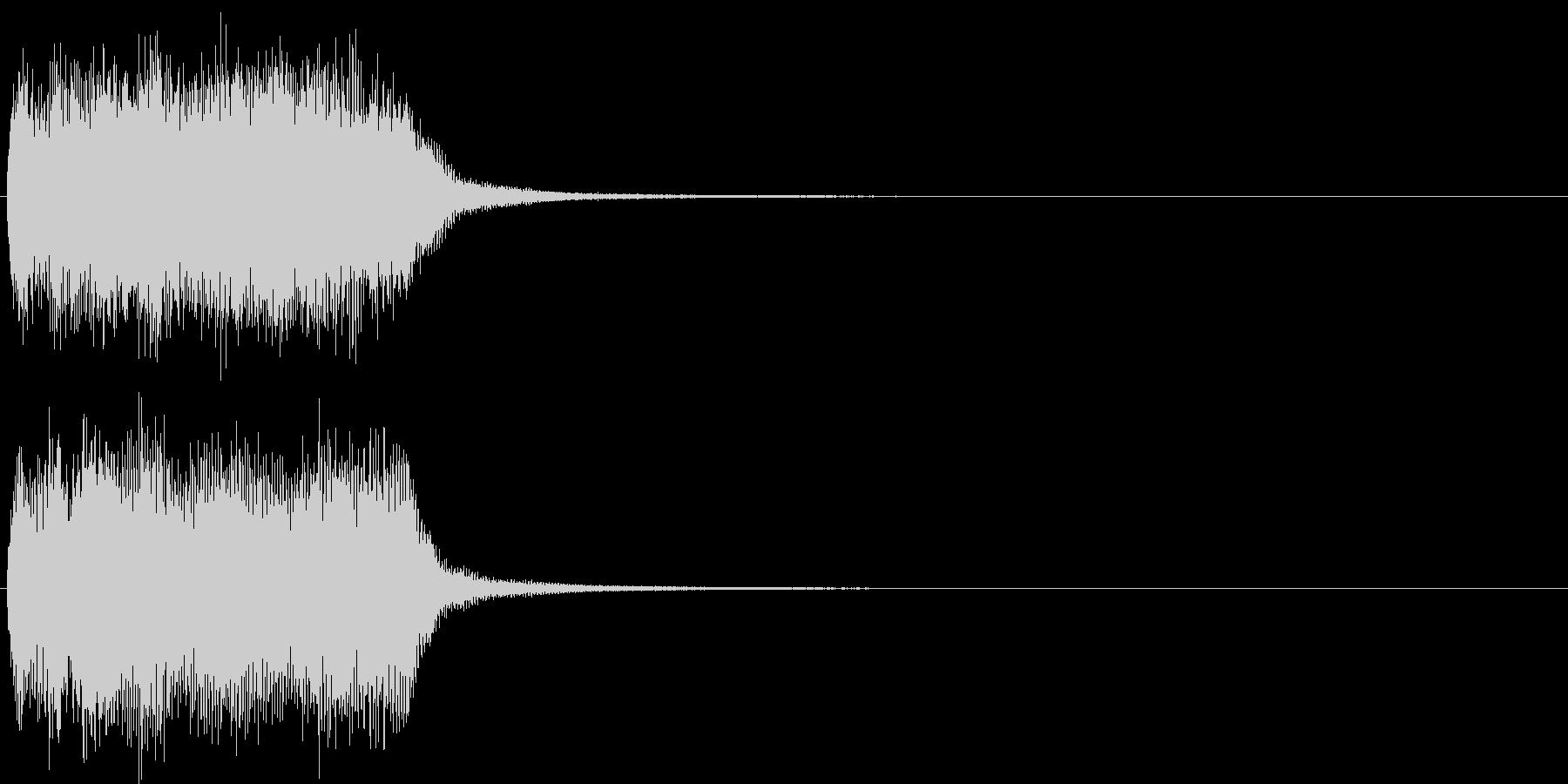 汎用21 ジャジャーン(豪華な打楽器付)の未再生の波形