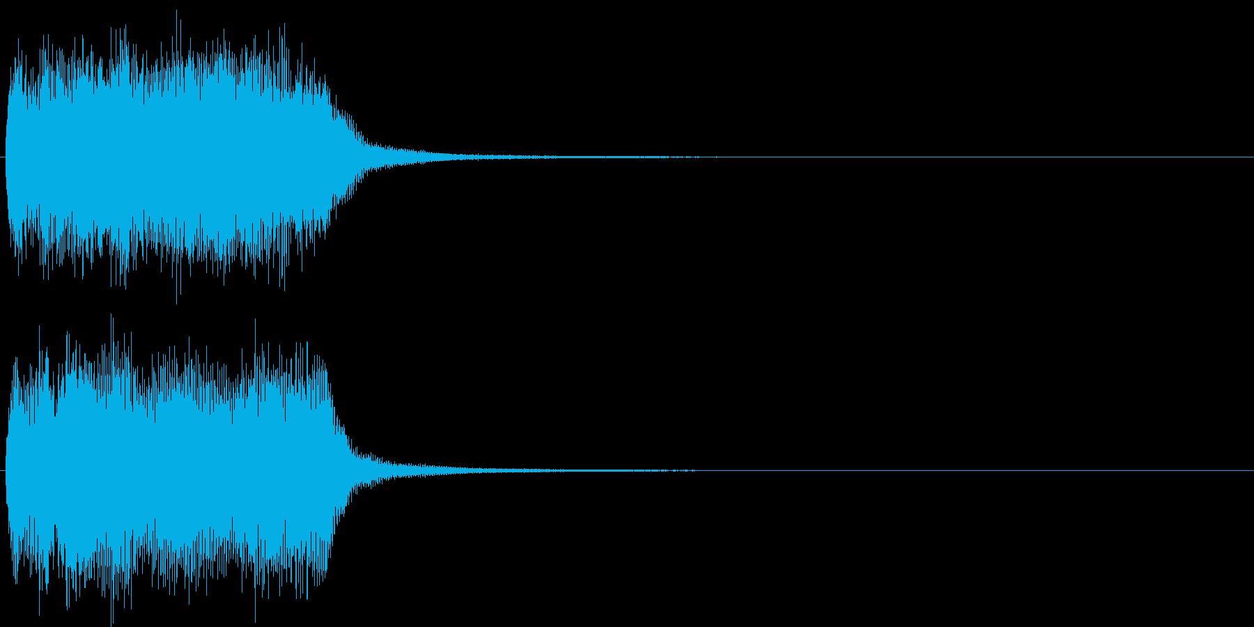 汎用21 ジャジャーン(豪華な打楽器付)の再生済みの波形