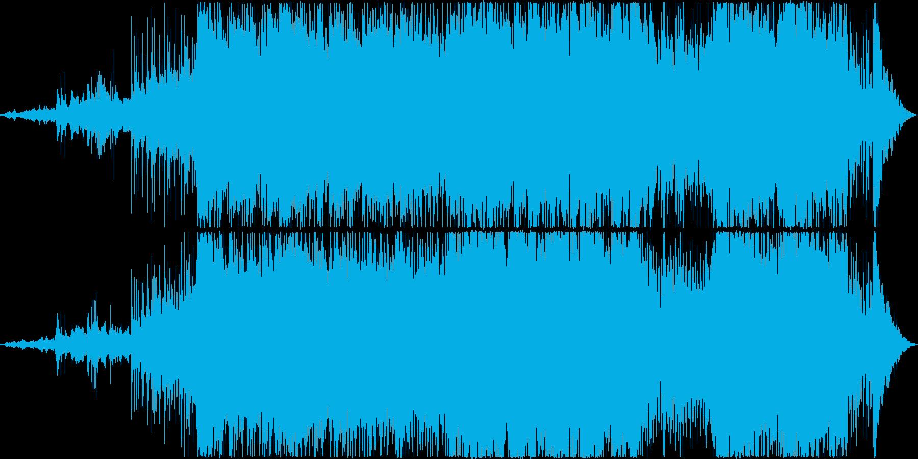 中国風の壮大なニューエイジ風BGMの再生済みの波形