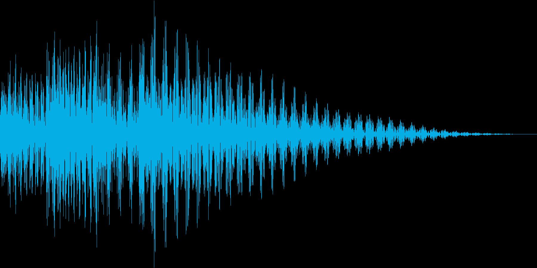 ジャジャン(結果 説明 アイキャッチ)の再生済みの波形