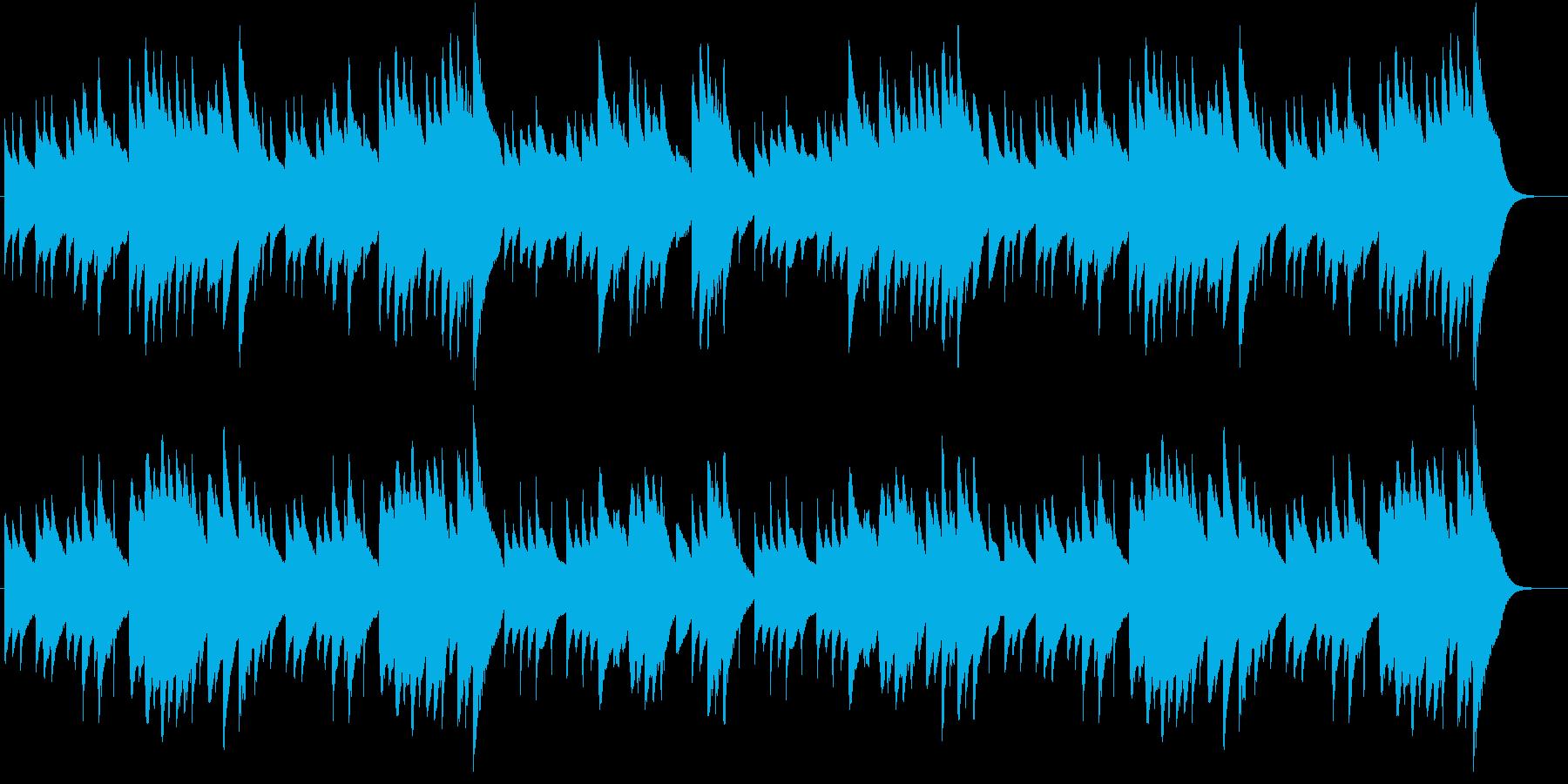 ジングルベルのオルゴールバージョンの再生済みの波形