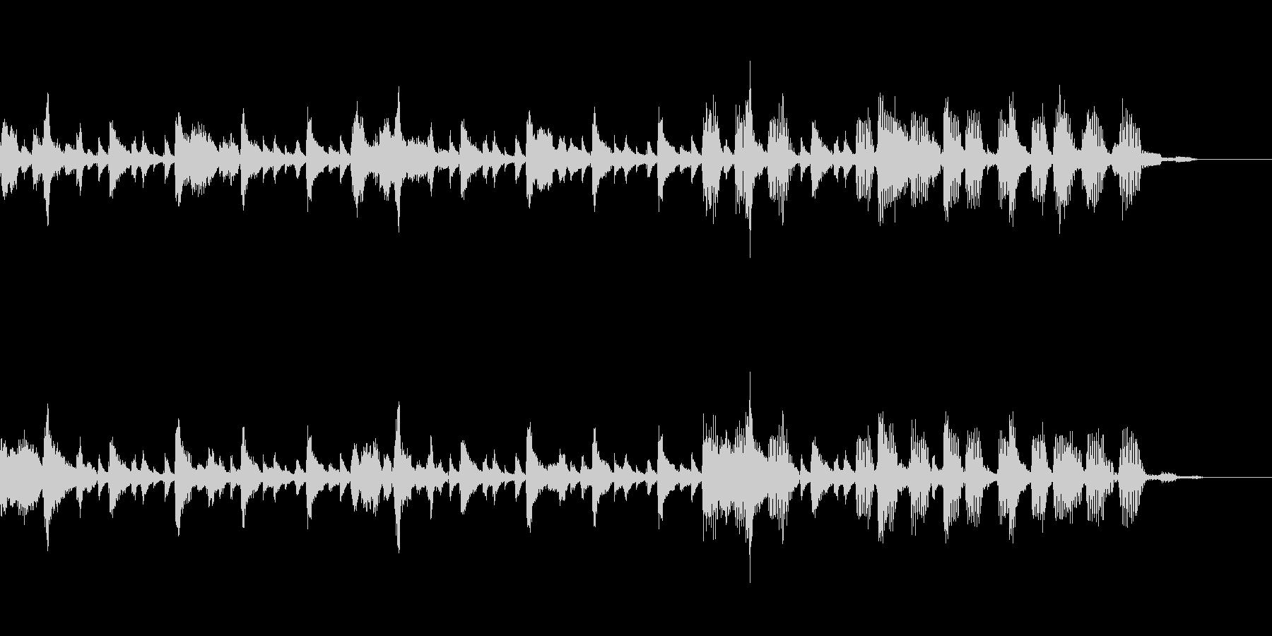 リラックスとしたジャズテイストのBGMの未再生の波形