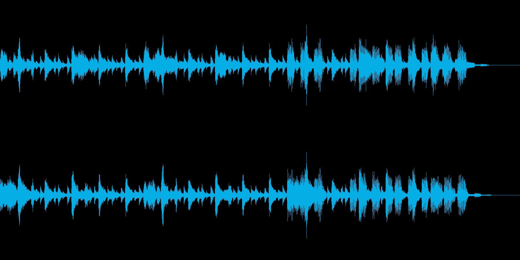 リラックスとしたジャズテイストのBGMの再生済みの波形