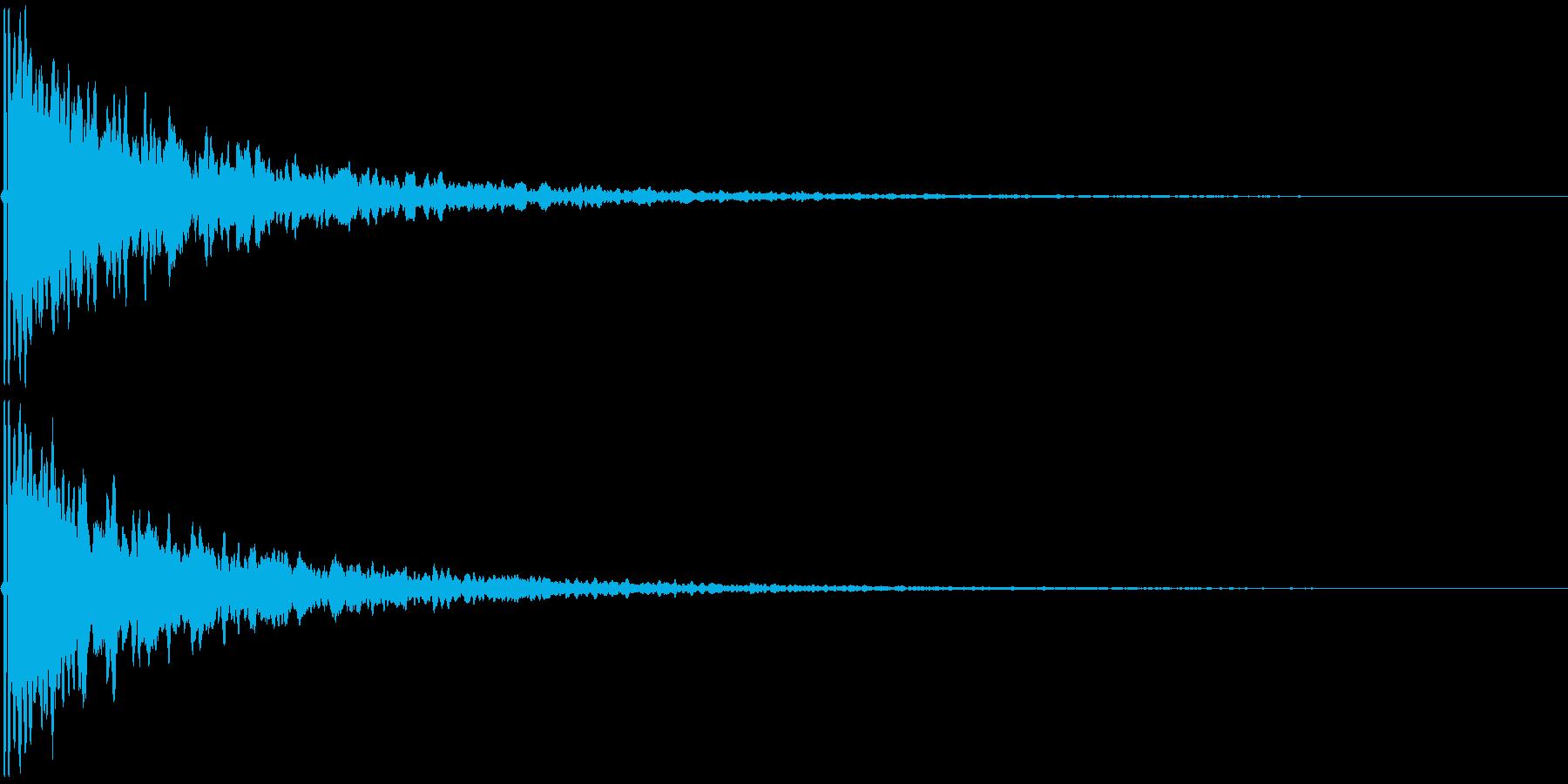 ピーン(耳鳴りや、何かの知らせのSE)の再生済みの波形