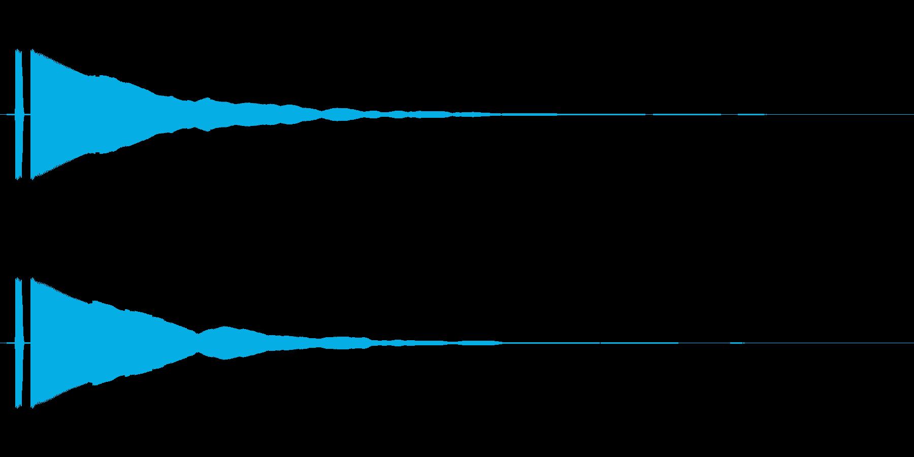 ピーン_決定系の電子音の再生済みの波形