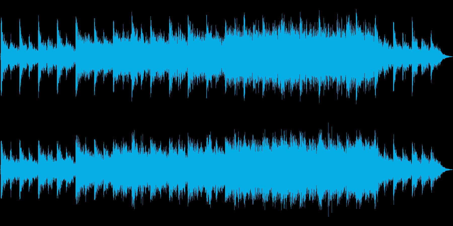 ピアノ・バイオリンのかなしいBGMの再生済みの波形