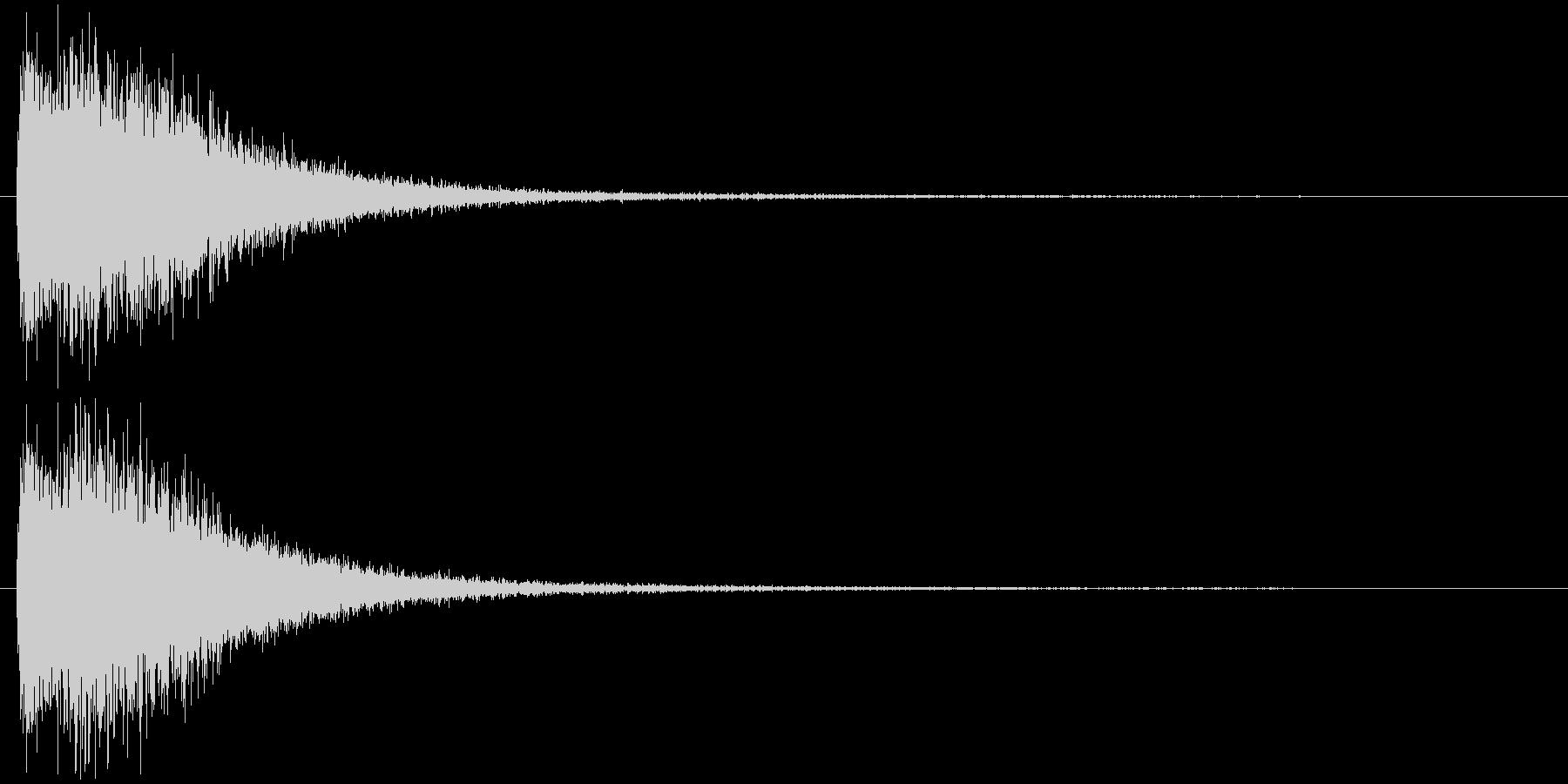 注意を引くインパクトのある音#6の未再生の波形