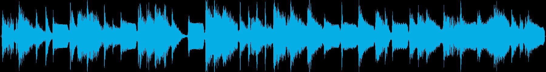 サイバーでデジタルな雰囲気の軽快テクノの再生済みの波形