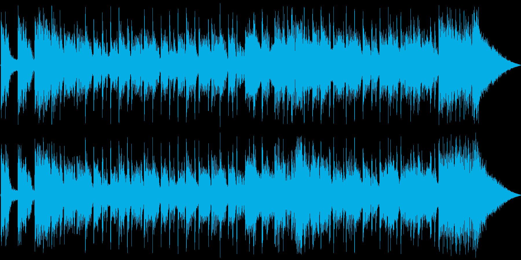 ブラスセクションを効かせたジングルの再生済みの波形
